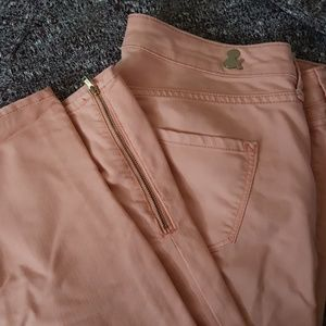 H&M salmon skinny ankle jeans